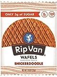 Rip Van Wafels Snickerdoodle Stroopwafels - Healthy Snacks - Non GMO Snack - Keto Friendly - Office Snacks - Low Sugar (3g) - Low Calorie Snack - 12 Pack