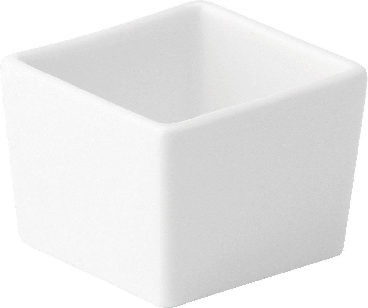 Box of 6 Deep Square Dish 2.5 Utopia Anton Black Fine China 6.5cm Z03097-000000-B01006