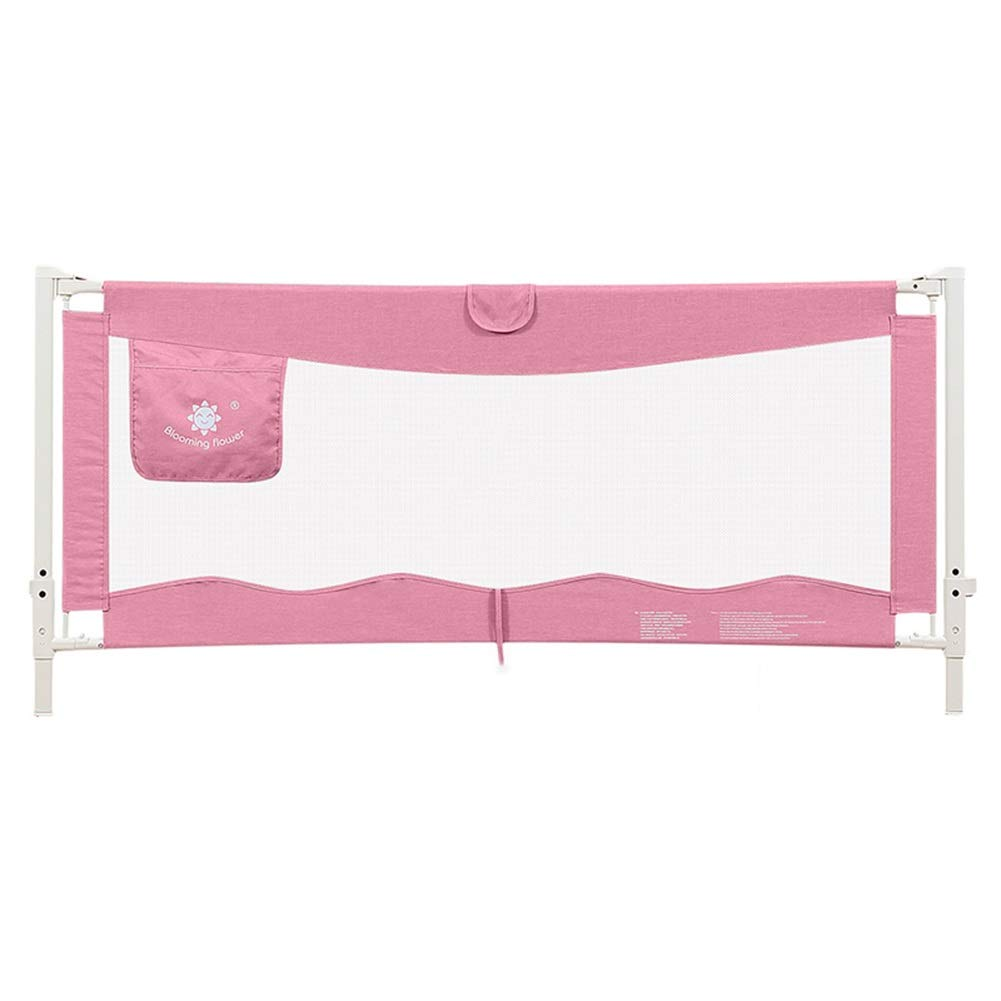 ベッドフェンス, 幼児のベッドの柵余分高さ93cmのキングサイズのベッドのための赤ん坊/子供の携帯用ガードレールの縦の上昇のベッドガード - ピンク (Size : 200cm) 200cm  B07SXXDMCM