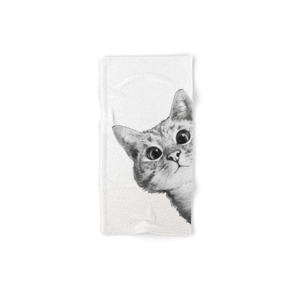 Society6 Sneaky Cat Set of 4 (2 hand towels, 2 bath towels)