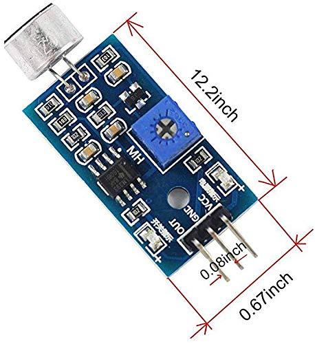 M/ódulo de detecci/ón de Sonido para micr/ófono con Sensor de Sonido para Arduino Raspberry Pi 2 3 3B OSOYOO 4 Robot Smart Car