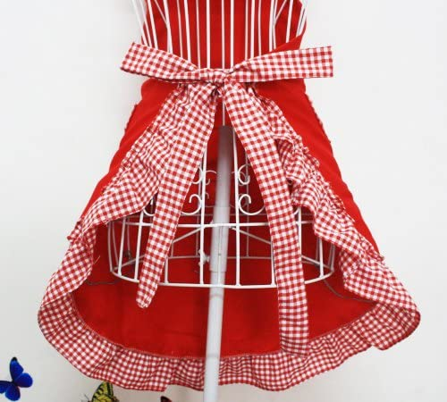 Red Gingham Retro Apron
