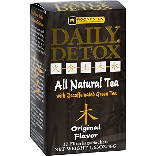 Rooney CV Daily Detox All Natural Decaffeinated Tea Original - 30 Sachet