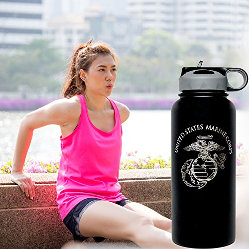 32 oz Vacuum Insulated Stainless Steel Marine Corps Water Bottle