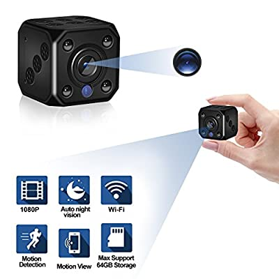 Mini Spy Camera,Wireless wifi Hidden Cameras 1080P HD Nanny Camera Video Recorder Indoor Hidden Surveillance Cam with Auto Night Vision for Home,Office Security from DclobTop