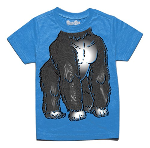 [Peek A Zoo Toddler Become an Animal Short Sleeve T shirt - Gorilla Turquoise (4T)] (Baby Gorilla Costumes)