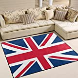 ALAZA Vintage Union Jack British Flag Area Rug for Living Room Bedroom 5'3 x 4′ Review