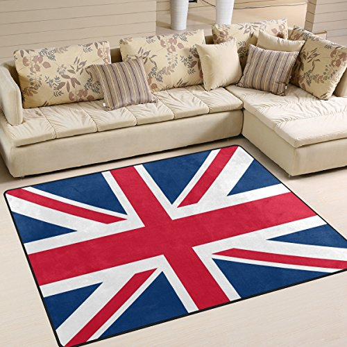Rug By Union - ALAZA Vintage Union Jack British Flag Area Rug for Living Room Bedroom 5'3 x 4'