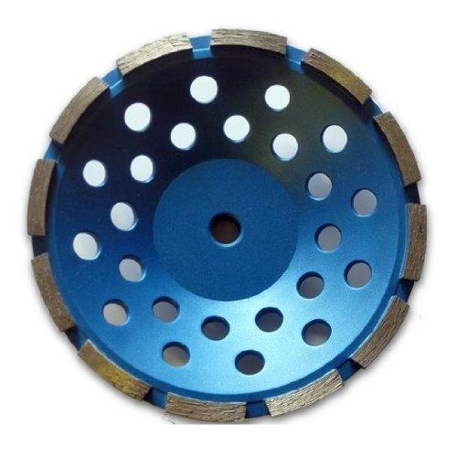 (7-inch Diamond Cup Grinding Wheel Single Row Grit 30~40, 5/8