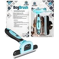 Jajnet Dog Grooming Brushes, Premium Pet Grooming Brush Reduces up to 90% of Shedding Hair, Guaranteed. Pet Hair Brush Suitable as a Pet Deshedding Tool for Long, Medium and Short Fur.