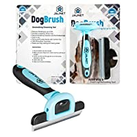 Dog Grooming Brushes, Amazing Pet Grooming Brush Reduces up to 90% of Shedding Hair, Guaranteed. Pet Hair Brush Suitable as a Pet Deshedding Tool for Long, Medium and Short Fur.