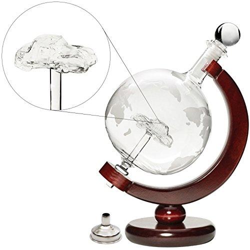 Denizli-Spirits-25-Oz-Handmade-Vodka-or-Liquor-Etched-Globe-Decanter-Set-with-Wooden-Stand-and-Bar-Funnel