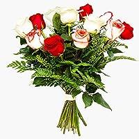 Ramos de 12 rosas naturales a domicilio variado Túnez - Flores frescas - Envío a domicilio 24h GRATIS - Tarjeta…