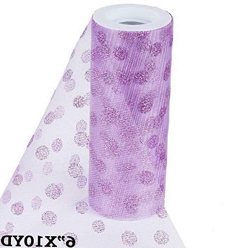 - Mikash 6 x 10 Yards Glittered Polka Dot Tulle Fabric Wedding Party Favors Decorations | Model WDDNGDCRTN - 14528 |