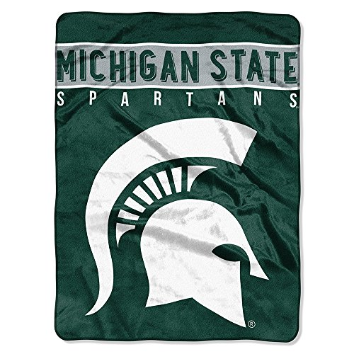 The Northwest Company Officially Licensed NCAA Michigan State Spartans Basic Plush Raschel Throw Blanket, 60