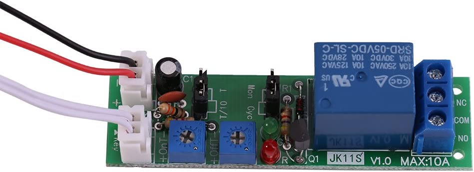 DC12V 0-24hr Adjustable DC 5V 12V 24V Adjustable Cycle Trigger Delay Timing Timer Relay On//Off Switch