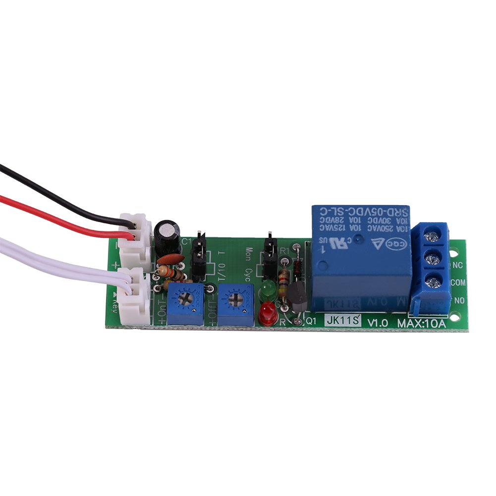 DC5V,0-24hr FTVOGUE Relay Module DC 5V 12V 24V Adjustable Cycle Timer Circuit On//Off Switch Delay Module for Machine Repetitive Test Circuit