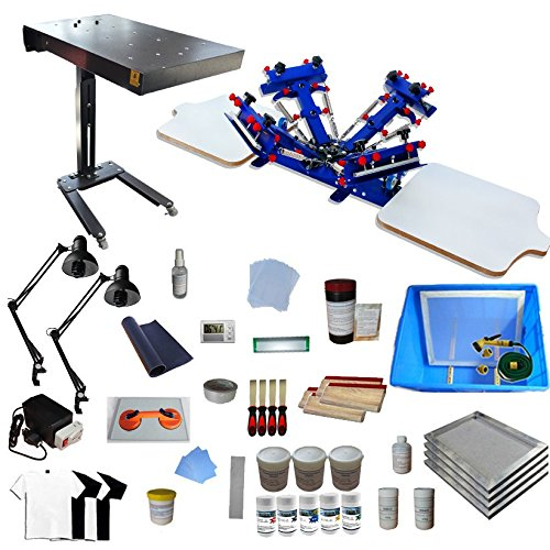 4 Color 2 Station Screen Printing Full Starter Kit by Screen Printing Kit
