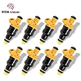 Ford F150 Fuel Injector, YITAMOTOR 8 PCS Fuel Injectors for Ford F250 F350 E150 E250 E350 E450 Mustang Expedition Excursion 4.6 5.0 5.4 5.8 EV1 Connector 4 Hole Flow Matched Fuel Injector 0280150943