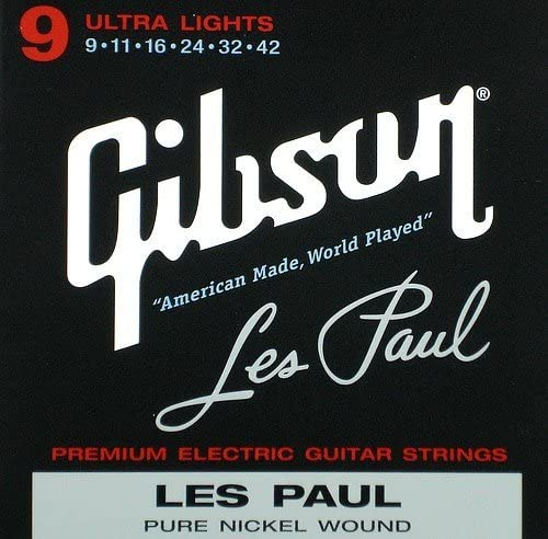 .042 Pure Nickel Wound Hervorragende Gibson Les Paul Saiten Ultra Light .009