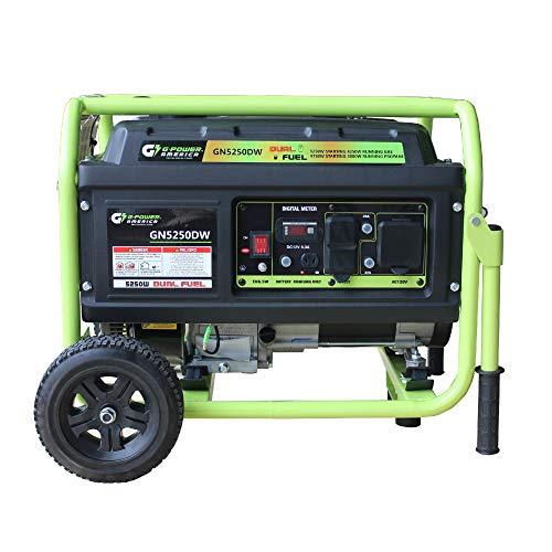 Green-Power America GN5250DW 5250-Watt Propane and Gasoline Powered Dual Fuel Generator