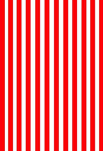 Laeacco 5x7FT Vinyl Photography Background Stripes Red and White Stripes Backdrop Party Artistic Children Adults Photo Backdrop 1.5(W)x2.2(H)M Photo Studio Prop (Studio Red Stripe)