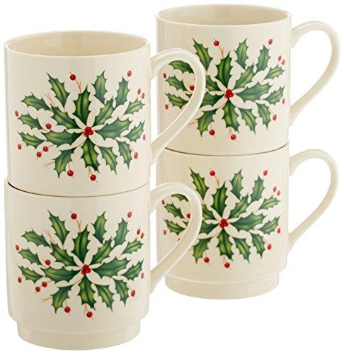 Lenox Holiday 4-Piece Stackable Mug Set