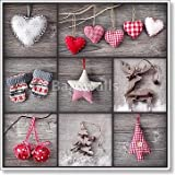 Christmas Collage Paper Print Wall Art (42in. x 42in.)