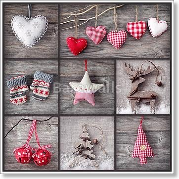 Christmas Collage Paper Print Wall Art (42in. x 42in.) by barewalls