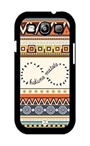 iZERCASE Hakuna Matata Infinity on Aztec Pattern RUBBER Samsung Galaxy S3 case - Fits Samsung Galaxy S3 T-Mobile, AT&T, Sprint, Verizon and International