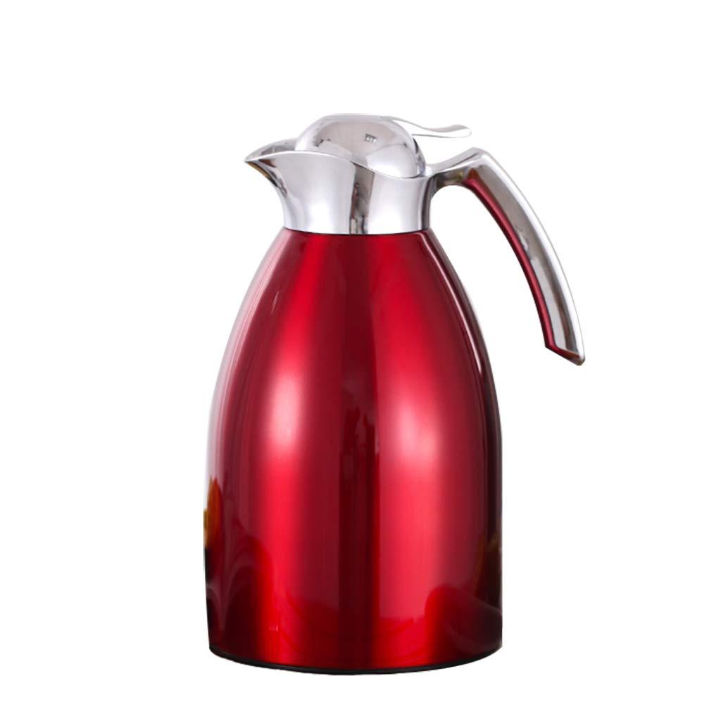 LRXG Thermoskannen,1.5L Große Kapazität Aus Edelstahl Thermos Kaffeekaraffe Doppelwandig Vakuumisolierte Kaffeekanne Krug Dicht Kältefest C2