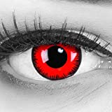 colored Cosplay Eyes Multi-Color Contact Lenses Cosplay Eyes Cute Colored Charm and Attractive Blends Cosmetic Makeup Eye Shadow (Red)