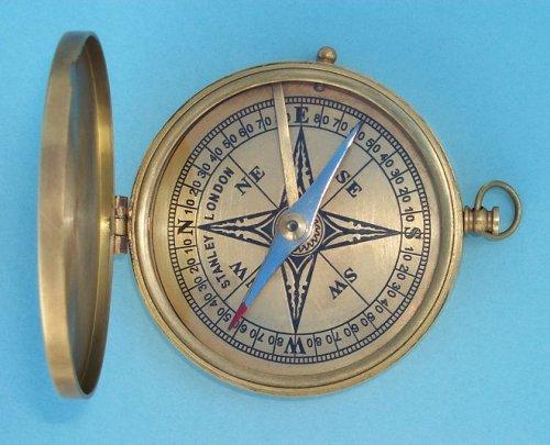 Nauticalmart Antik groß Messing – Pocket Kompass B073WXTN6Y    Die Farbe ist sehr auffällig