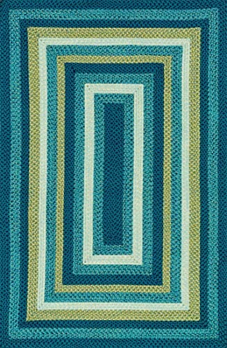 Loloi Rugs Garrett Collection Area Rug, Blue Green, 7 9 by 9 9