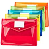 FANWN Plastic File Folder Poly Envelope Expanding