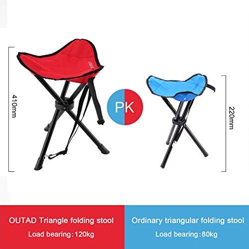folding tripod stool outad upgraded version portable