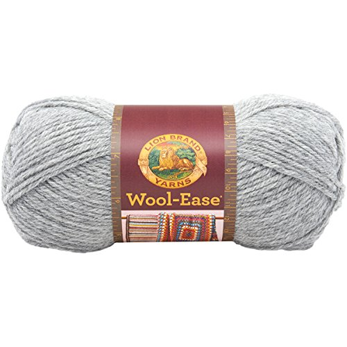 (Lion Brand Yarn Lion Brand Wool-Ease Yarn (151) Grey Heather, )