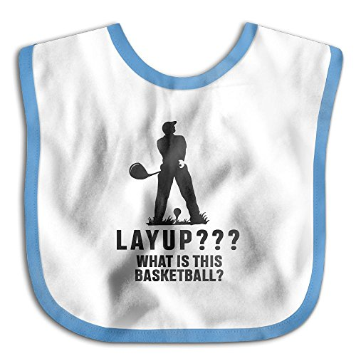 Infant Baby Bandana Drool Bibs Layup¿What Is This Basketball¿ Saliva Neck Towel ()