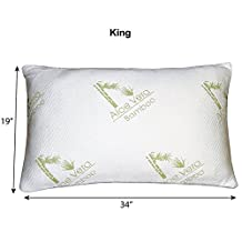 Bamboo Essence Aloe Vera Memory Foam Hypoallergenic Pillow for Cooling Comfort