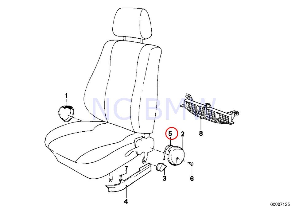amazon bmw genuine slider automotive 86 BMW Parts