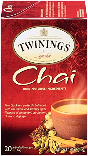 Twinings Chai Tea, 20 Count Bagged Tea (6 Pack)