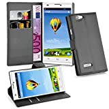 zte blade l2 phone cases - Cadorabo - Book Style Wallet Design for ZTE BLADE L2 with 2 Card Slots and Stand Function - Etui Case Cover Protection Pouch in OXID-BLACK