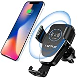 Wireless Car Charger, ARPSTAR Quick Charge Wireless Car Charger Fast Charge with Car Mount Phone Holder for iPhone X 8 Plus Samsung Galaxy S9 Plus S8 Note 8 and Any Qi Wireless Charging Smartphone