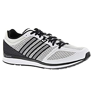 adidas Men's mana rc Bounce m Running Shoe, White/White/Black, 6 M US