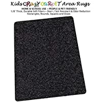 7x12 - Tuxedo ~ Kids Crazy Carpet Home & School Area Rugs   People & Pet Friendly – R2X Stain Resistance & Odor Reduction