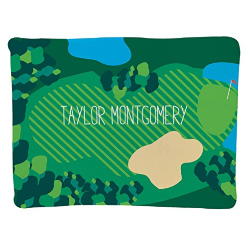 Personalized Golf Baby & Infant Blanket | Golf Course with Custom Name