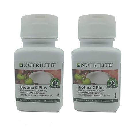 pack 2 x Biotina C Plus biológica NUTRILITE - Pelo Piel y Uñas (2 x
