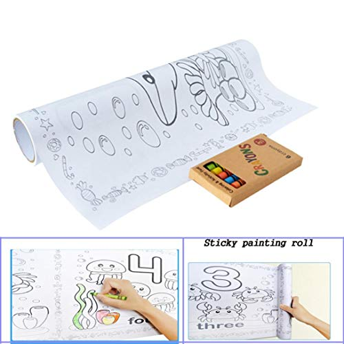 KpopBaby Children Drawing Scroll Paper Wallpaper Preschool Graffiti