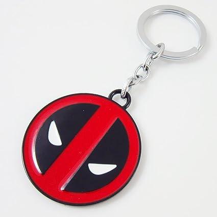 asteriated Marvel Deadpool Logo máscara llavero llavero ...
