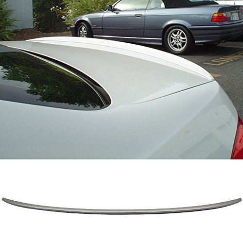 Trunk Spoiler Fits 2007-2013 BMW 3-Series E92 | M3 Style Unpainted Raw Material Black ABS Rear Tail Lip Deck Boot Wing by IKON MOTORSPORTS | 2008 2009 2010 2011 2012
